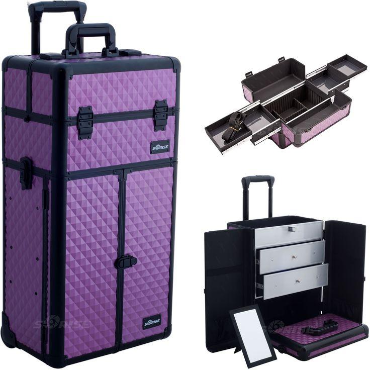 Sartorio Purple-Diamond Rolling Makeup Case by Sunrise
