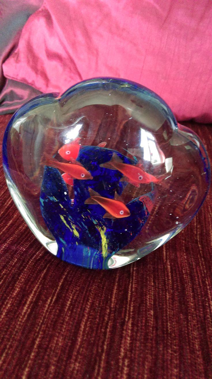 Goldfish Glass Paperweight