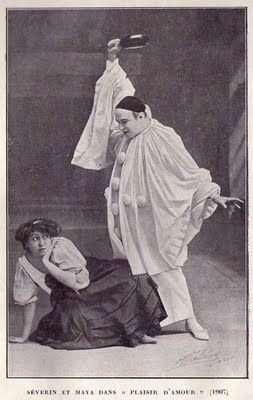 "LE MIME SÉVERIN Souvenirs d'un Pierrot [1907] "" see also No kidding!: Clown as Protagonist in 20th-century Theatre: ""Pierrot assassin de sa femme was a crucial moment in the development of early twentieth-century theatre in..."