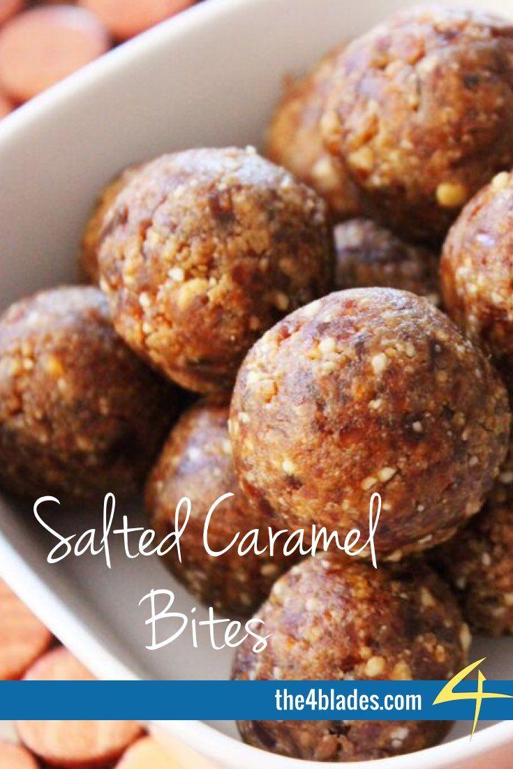 Thermomix Salted Caramel Bites Ingredients: Macadamias or cashews, dates, salt, vanilla bean paste.