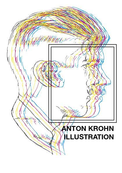 Anton Krohn selfportrait  #illustration