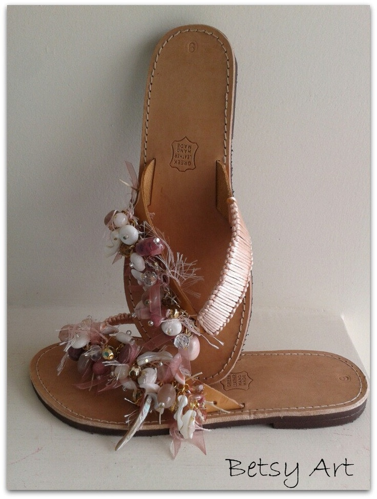 Flip flops-women  sandals-Greek leather sandals. €50.00, via Etsy.