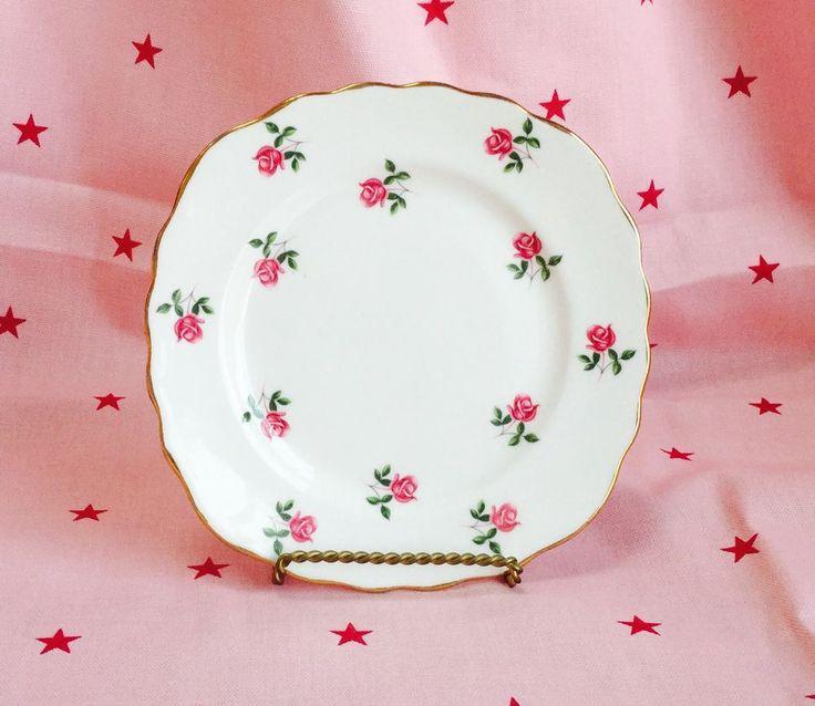 Vintage Colclough fragrance  Rosebud teaplates (5)