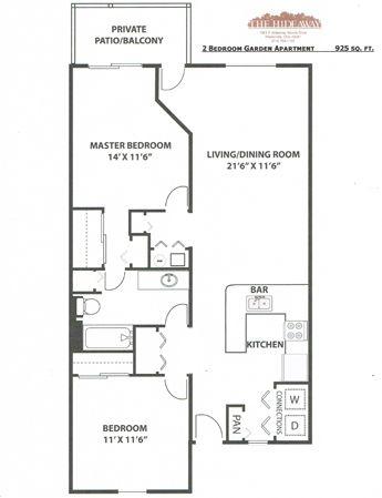 Westerville 2 bedroom floor plan basement apartment plan - 2 bedroom apartments westerville ohio ...