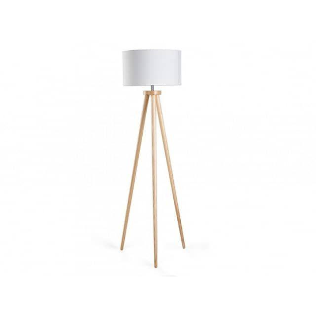 lampadaire design luminaire lampe de salon blanc nitra beliani fr - Lampe De Salon