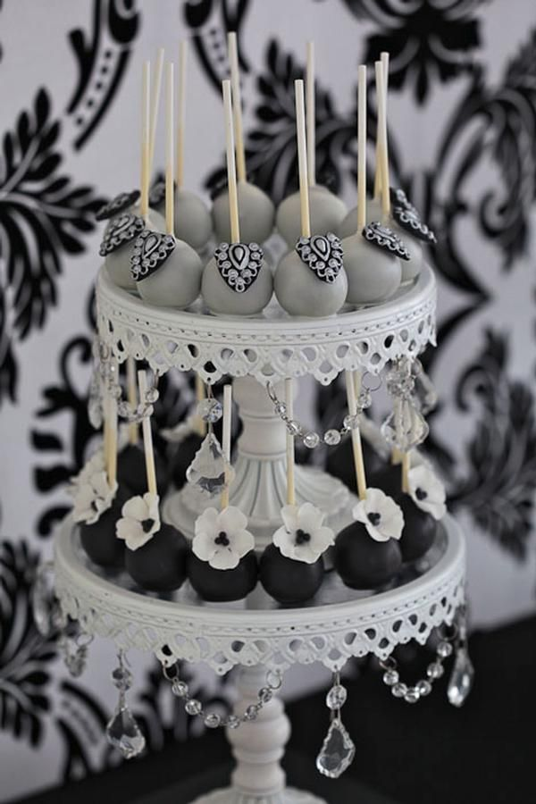 Serve glamourous cake pops instead of cupcakes