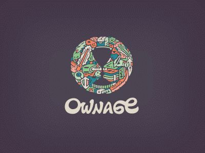 Dribbble - Ownage Logo by Breno Bitencourt