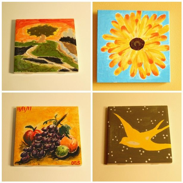 Ceramic pick & paint, ceramic tiles painted at Creativity Art Studio   http://creativityartstudio.com/?page_id=64#