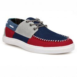 $18.40 Lace-Up and Splicing Design Canvas Shoes For Men