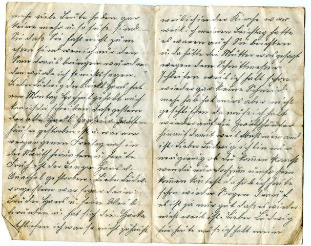 German World War I letter written in Sütterlin