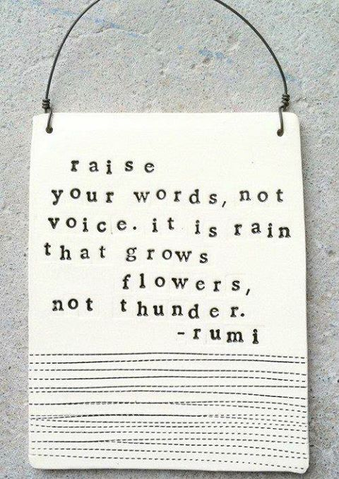 The wise words of Rumi. Good to see when i first open pinterest, been struggling with some thunder lately.