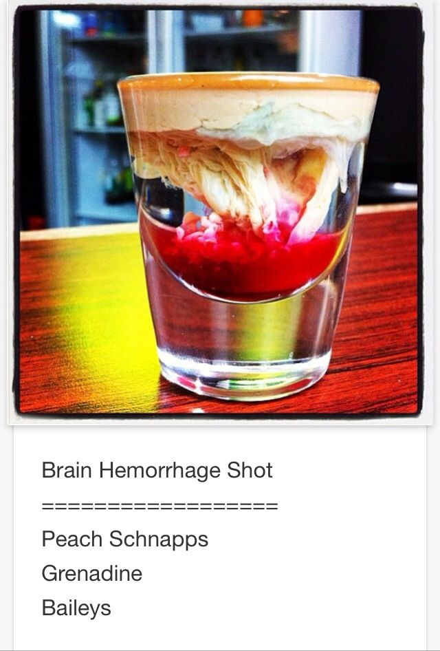 Brain Hemorrhage shot # tipsy Bartender