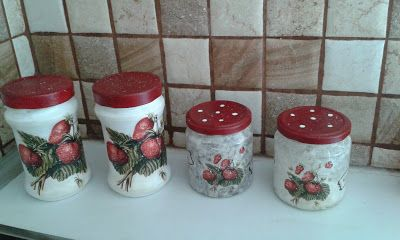 something to create: decoupage jars