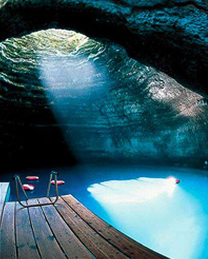The Homestead Resort in Utah has a geothermal underground spring!