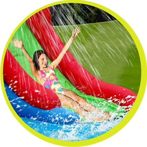 Castillo Happy hop hinchable acuático Aventura Multizone Happy Hop solo en saltofeliz.com