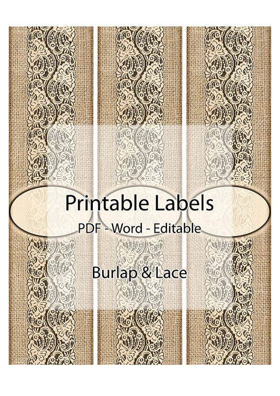 Soap Labels Printable Editable Label Digital Burlap Lace Hessian Fabric Organic Rustic Natural Custom Wrap Band Handmade Sleeve Collar