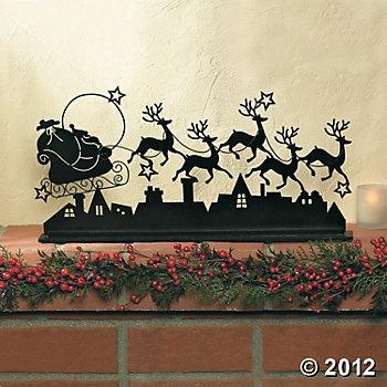 Santa & Reindeer ~ great silouette image