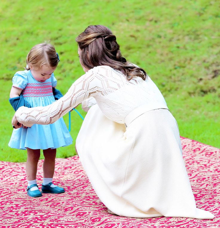 Catherine, Duchess of Cambridge and Princess Charlotte at a children's party for Military families during the Royal Tour of Canada on September 29, 2016 in Victoria, Canada.