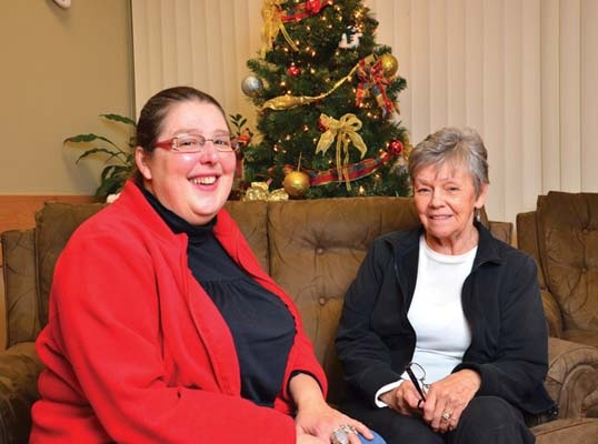 Quiet Christmas: Gerontologist Katherine Willett, left, is recommending people keep it simple during holiday celebrations that include an elderly loved one, especially someone with dementia.