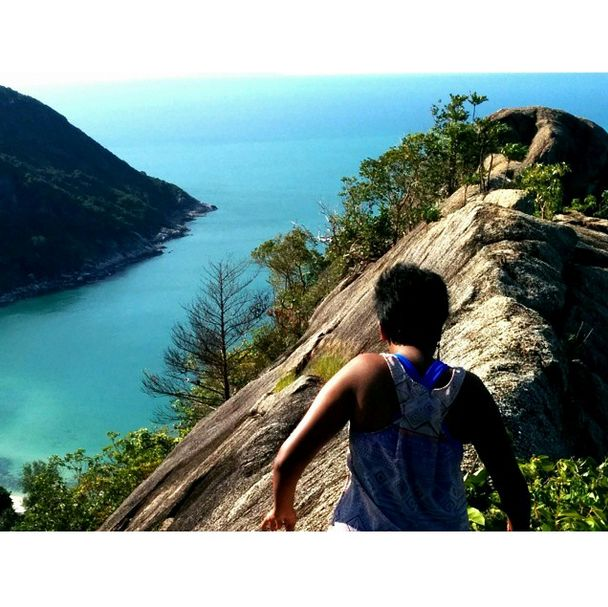 In #KohPhangan, our #CombatQueen went for a challenging #trek. But who will complain when she treks up to this view? A picture perfect #view and a breathtaking #adventure.