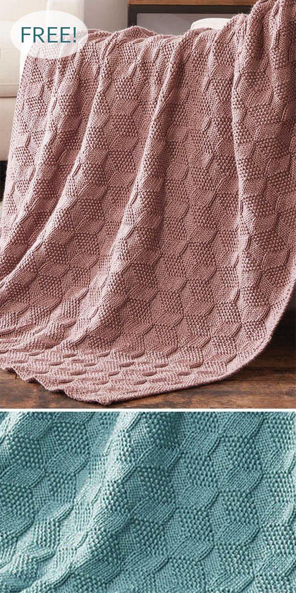 Free Knitting Pattern for Stack Up Blocks Blanket …