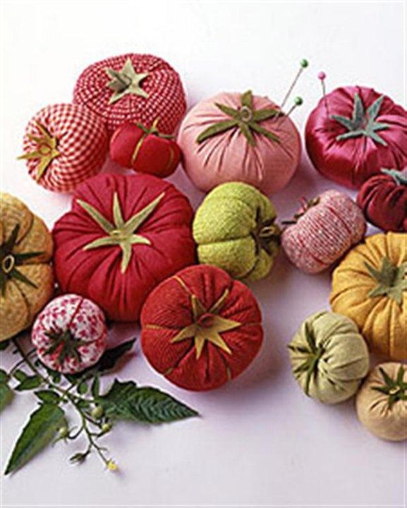 AGULHA, LINHA E AMOR: Tomates em tecido