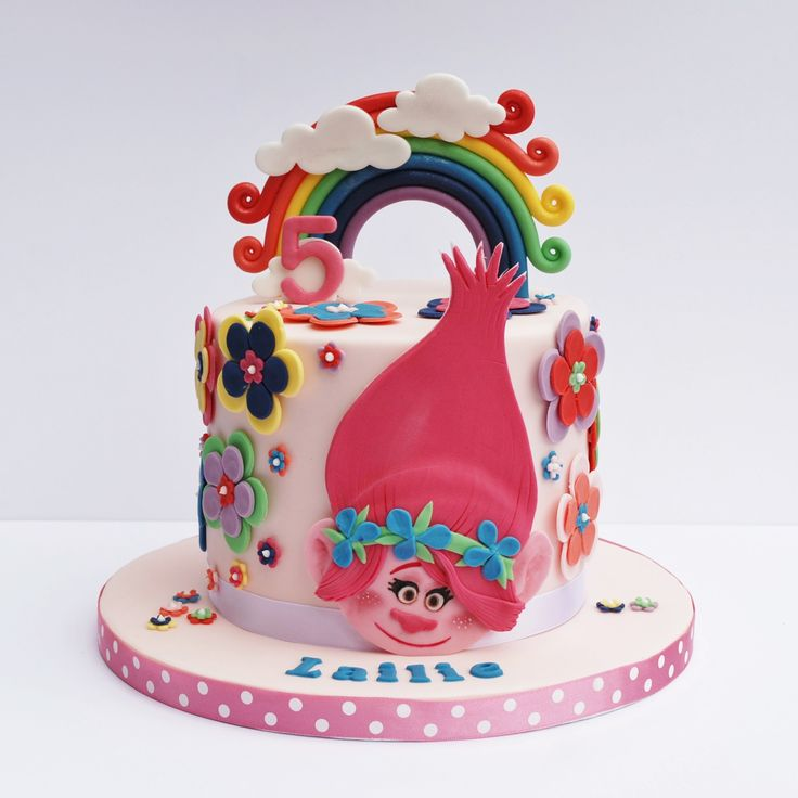 Princess Poppy cake, Trolls