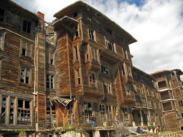 Greek Orphanage-  Istanbul, It officially became an orphanage in May 1903. It is considered to be the largest wooden building in Europe  second largest in the world. It was closed on April 21 1964. It has sat abandoned since. Photograph courtesy of Emine Erdogùmus - World Monuments Fund - October 18 2011