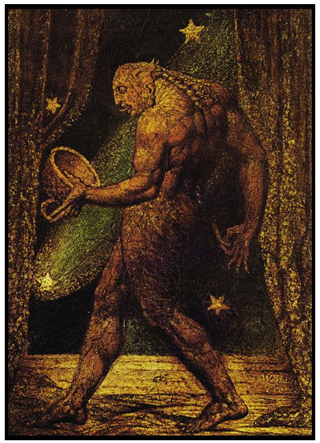 "William Blake, The Ghost of a Flea  Blake was dismissed as mad throughout his life, because he claimed to be directed to art as a spiritual calling, and believed he could see into the spiritual realm.  ""I am under the direction of Messengers from Heaven Daily & Nightly."""