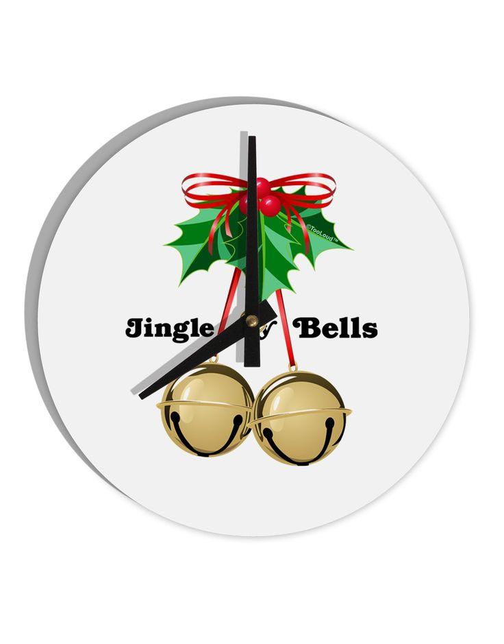 "Jingle My Bells 8"" Round Wall Clock"