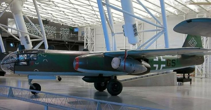 The WW2 German Arado Ar 234 - The First Operational Jet Bomber. Arado Ar 234 B-2 in the National Air and Space Museum of the Steven F. Udvar-Házy Center, Washington, USA
