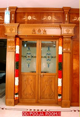 pooja room design. home mandir. lamps. doors. vastu. idols placement.
