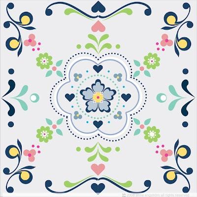 Swedish kurbits pattern. Maybe incorporate into tattoo. I'm thinking no color though.