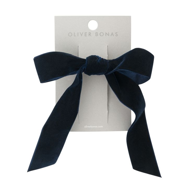 Buy the Long Velvet Bow Barrette Hair Clip at Oliver Bonas. Enjoy free worldwide standard delivery for orders over £50.