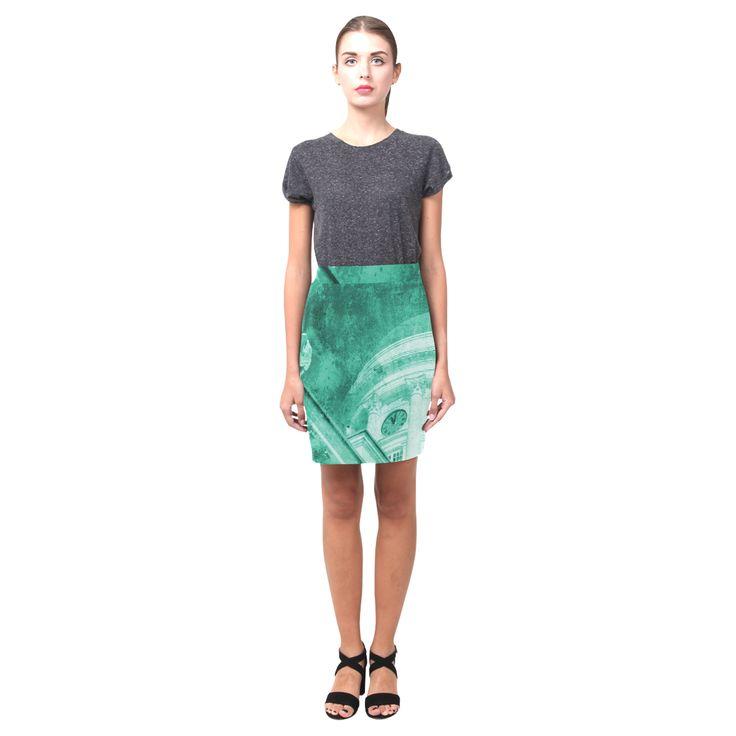 'Helsinki Vintage Teal' - Nemesis Skirt (Model D02) @artsadd  #designerfashion #green #teal #fashion #skirt #clothing #vintage #helsinki #textures #artsadd #ladieswear #2017 #trends #dress #skirtcollection