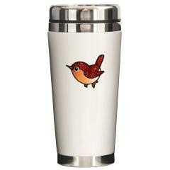 Cute Ruby Red Bird Travel Mug $21.59 #bird #mug #cute