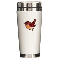Cute Ruby Red Bird Travel Mug $21.59 #bird #mug #cute
