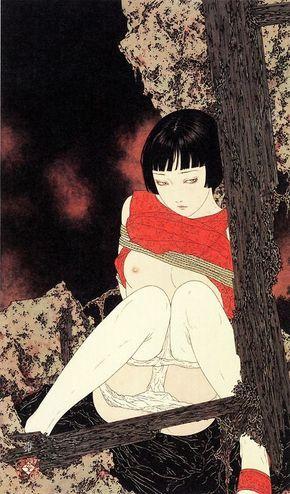 """Takato Yamamoto un fantástico ilustrador y cartelista proveniente del sol naciente, Japón. En sus dibujos Takato hace referencia a los grabados Ukiyo (estampa japonesa o """"pinturas del mundo flotant…"""