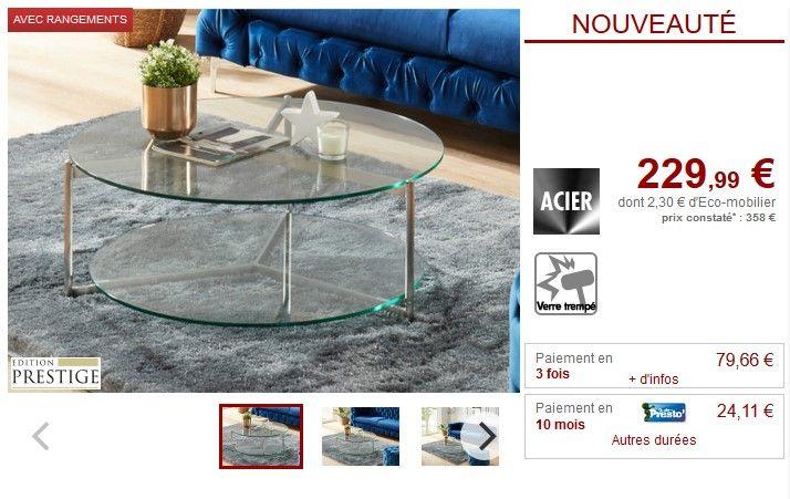 table basse ronde design abigael en