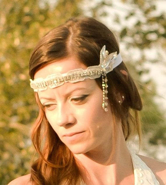 One of a Kind Vintage Gatsby Inspired Headpiece