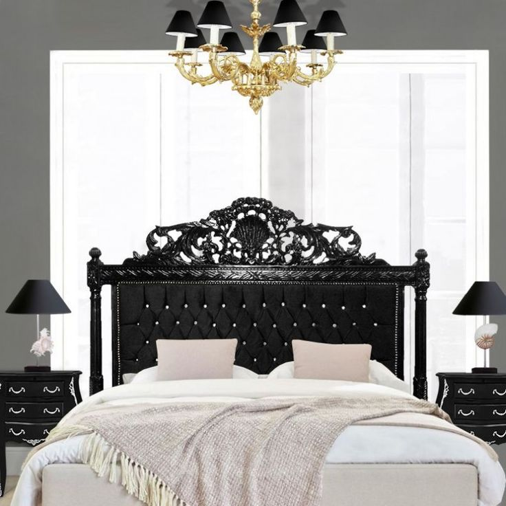 1000 id es sur le th me t te de lit en velours sur - Deco chambre lit noir ...
