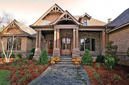 5 Bedroom Magnificent Craftsman Home - 60066RC | Country, Craftsman, European, Mountain, Luxury, Photo Gallery, Premium Collection, 1st Floor Master Suite, Butler Walk-in Pantry, CAD Available, Den-Office-Library-Study, Media-Game-Home Theater, PDF, Corner Lot | Architectural Designs
