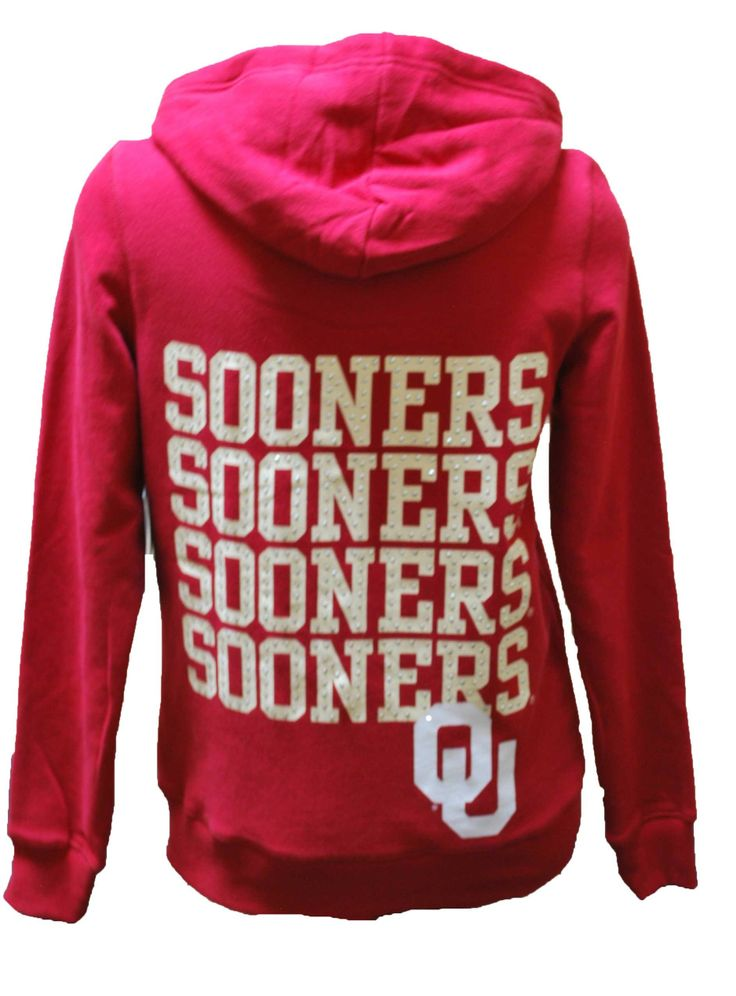 ou sooners women's apparel | Women's OU Sooners Bling Hoodie Full Zip Jacket