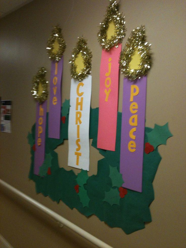 Sunday school Christmas, Advent bulletin board