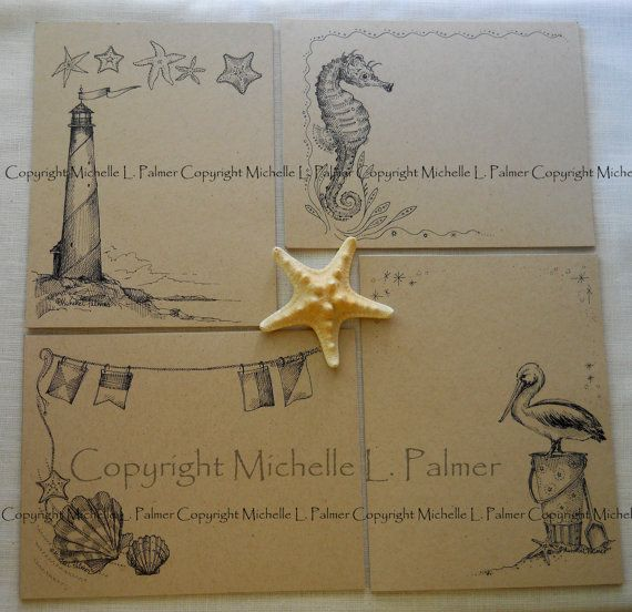 Litchfield Hill Notepaper Stationery by Michelle by MichellePalmer