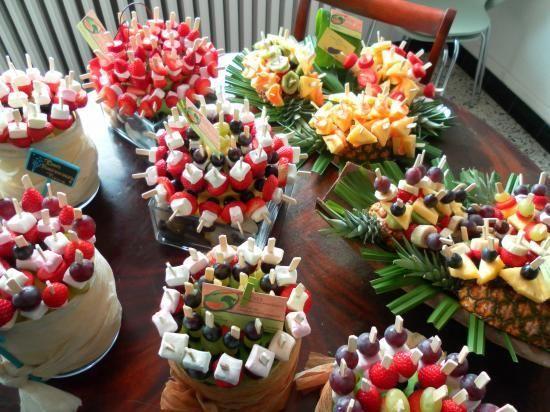 Brochettes fruits / bonbons (idéal pour une fontaine à chocolat)