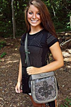 Glittery long strap Miss Me purse sold by Southern Fried Chics Southernfriedchics.com