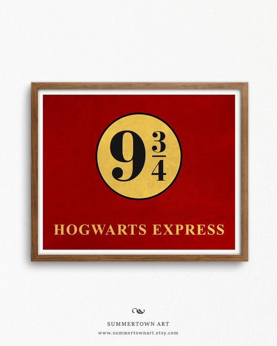 photo about Hogwarts Express Printable titled System 9 3 4 Printable, Harry Potter Poster, Electronic