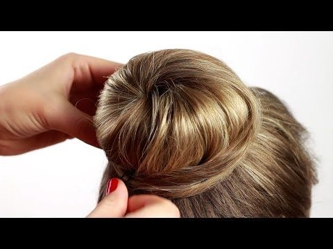 Elegant sleek bun updo inspired by Angelina Jolie | Long hair tutorial for work and special events - YouTube
