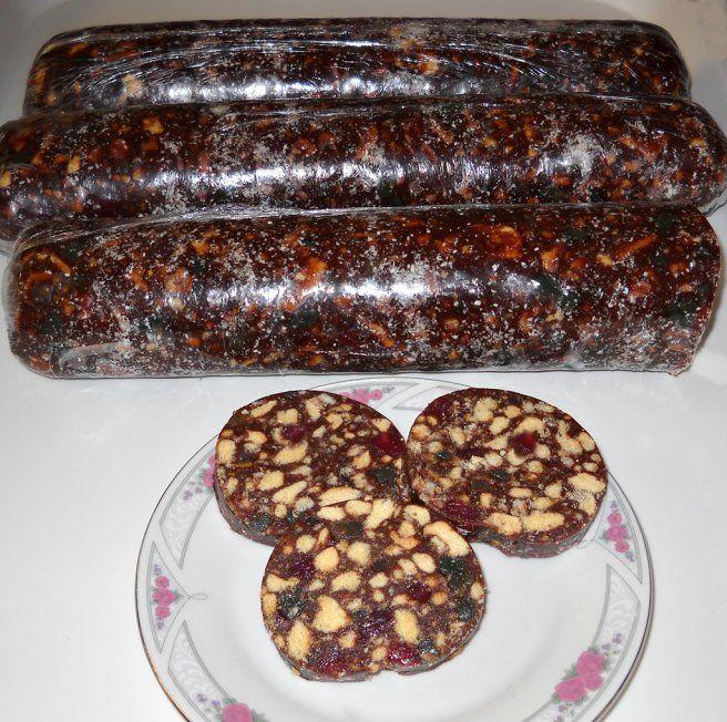 Salam de biscuiti cu sirop de zahar ars (de post)